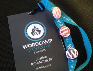 Badge Wordcamp Lyon 2015